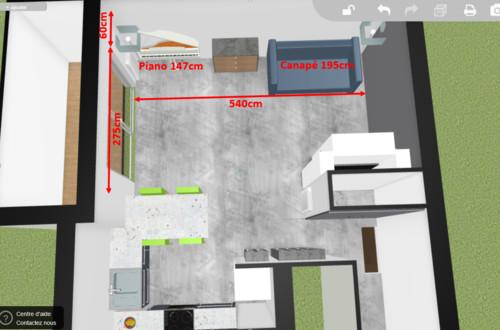 Aide aménagement cuisine ouverte sur baie vitrée Home-design