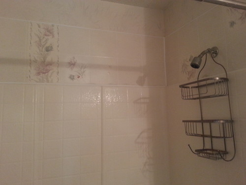 How to tile around a one piece shower and bath