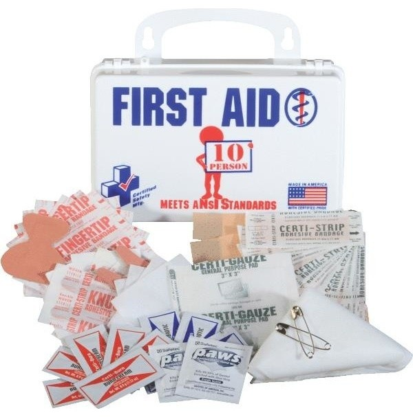 CERTIFIED SAFETY MFG - Certified Safety 10-Person First Aid Kit & Reviews   Houzz