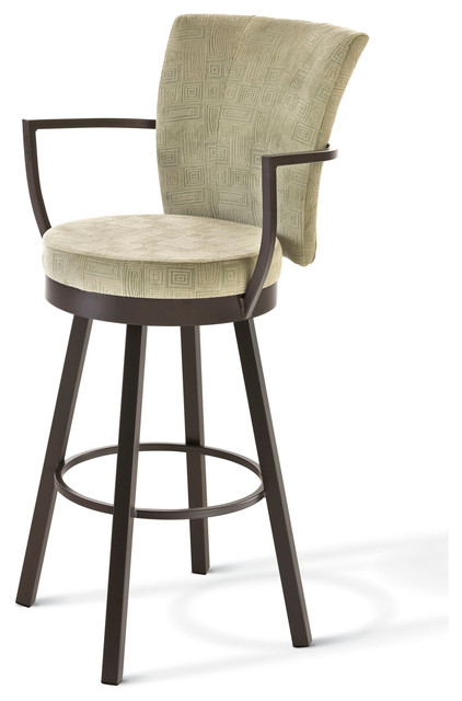Amisco Amisco Cardin Upholstered Back Swivel Stool With