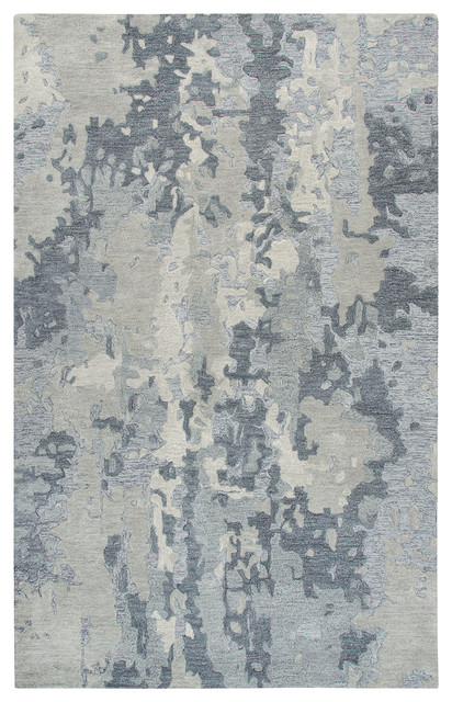 Rizzy Home Vogue Hand Tufted Area Rug 5 X8 Gray Contemporary Area Rugs By Zeckos