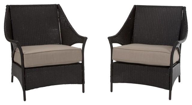 Cool Cosco Outdoor Living Lakewood Isle Deep Seating Patio Lounge Chairs 2 Pk Customarchery Wood Chair Design Ideas Customarcherynet