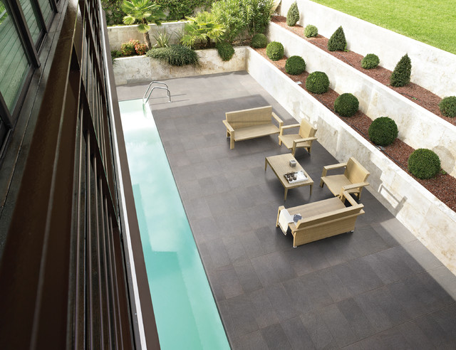 Grey Outdoor Tile Modern Exterior Brisbane By