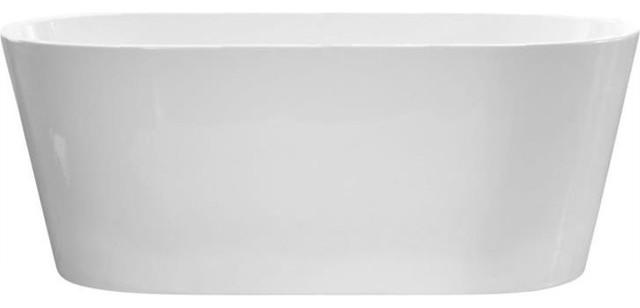 """60""""x30"""" Monaco F1 Acrylic Freestanding Oval Bathtub, Soaker."""