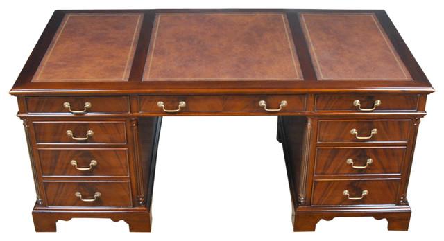 niagara furniture large mahogany executive desk andhutches - Mahogany Desk