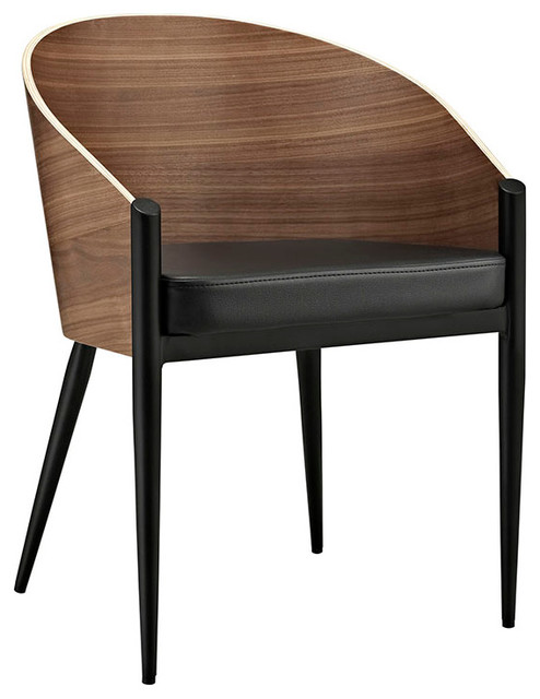 Cooper Dining Wood Armchair, Walnut.