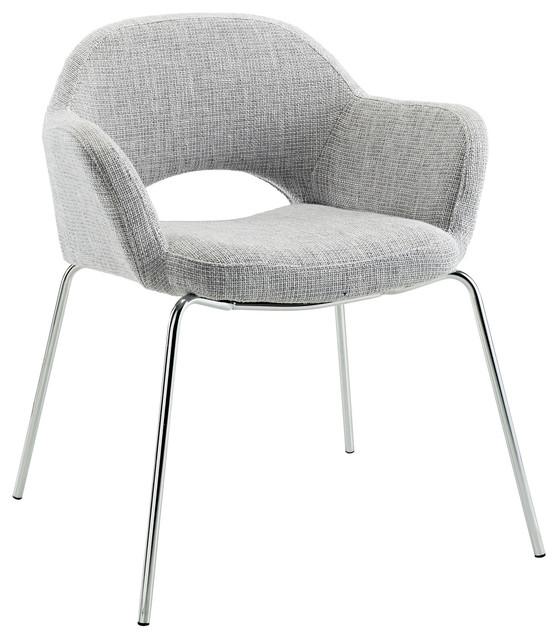 Modway Cordelia Dining Armchair, Light Gray.