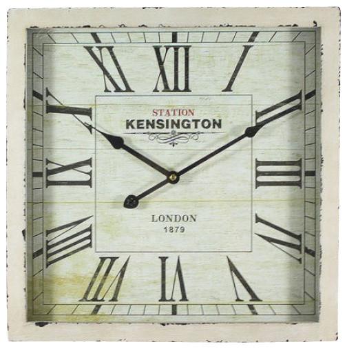 Square Mdf Wall Clock, White
