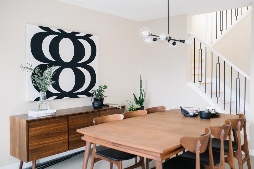 Inspiration for a scandinavian home design remodel in Edmonton