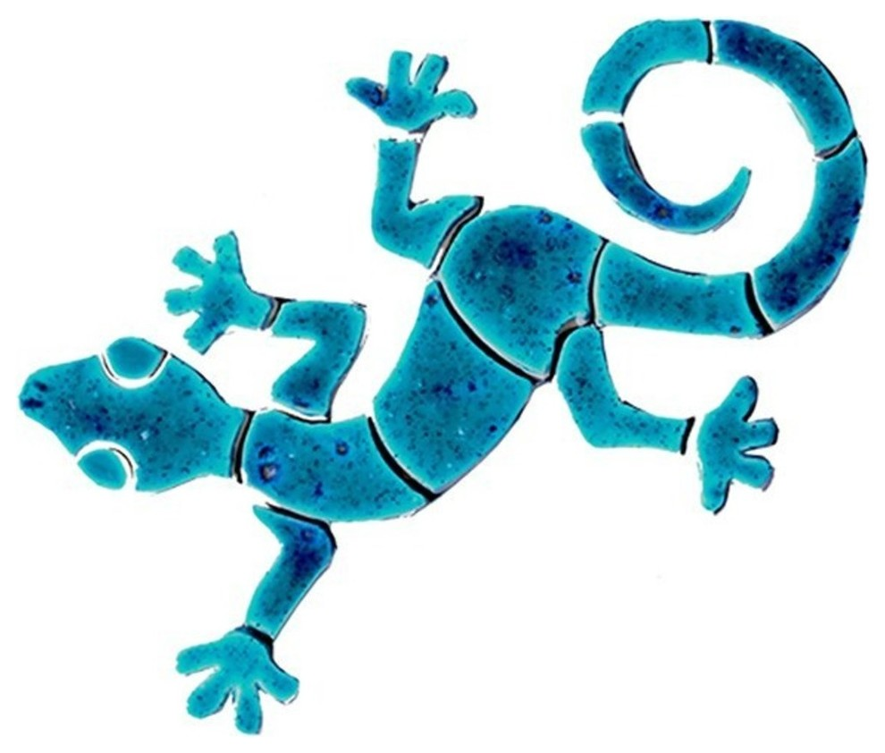 """Mosaic Geckos for Swimming Pool or Wall Free Shipping 6/"""" 10/"""" or sets"""