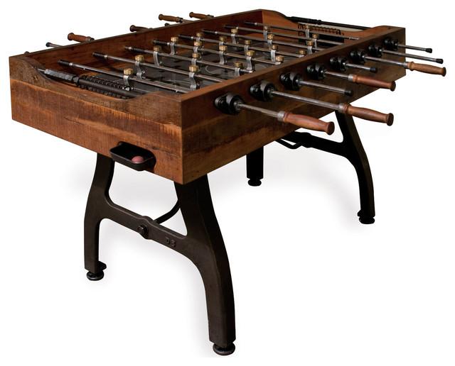 industrial reclaimed wood furniture. Bradley Industrial Reclaimed Wood Iron Foosball Table Industrialgametables Furniture