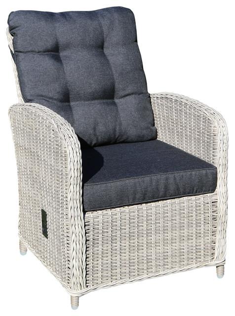 Merano Garden Lounge Chair, Vintage White