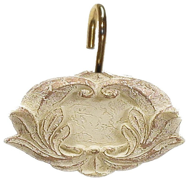 Carnation Home Victorian Resin Shower Curtain Hooks