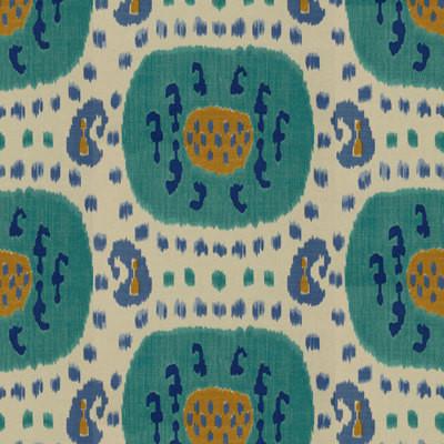 Brunschwig & Fils Samarkand Fabric, Aqua/Blue by Marley Material
