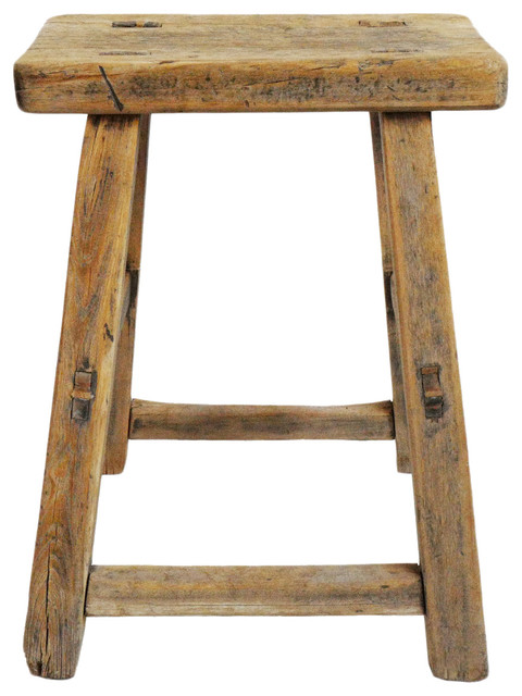 Magnificent Consigned Elm Work Stool Theyellowbook Wood Chair Design Ideas Theyellowbookinfo