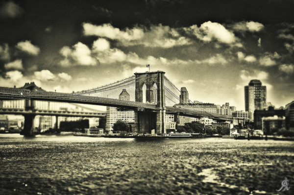 """Old Times In Brooklyn"" Art Print, Aluminum Dibond, Large"
