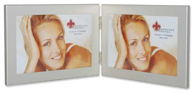4x6 Hinged Double Metal Picture Frame - Transitional - Picture ...