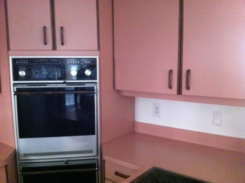 Any (DIY/budget Friendly) Suggestions To Deal With These Stunning  Peach/mauve Laminate Cabinets?