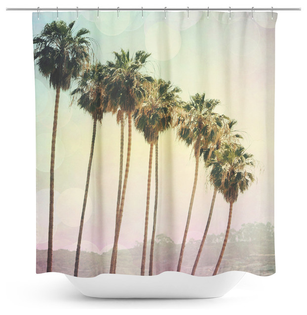 Row Of Palm Trees Shower Curtain Modern Shower Curtains By Sylvia C Photography