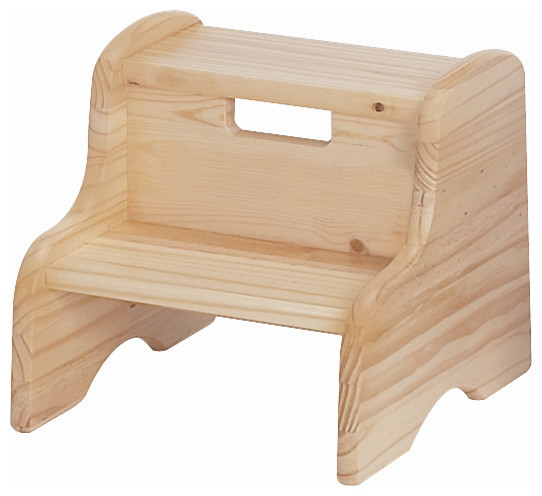 solid wood kidu0027s step stool unfinished - Step Stool