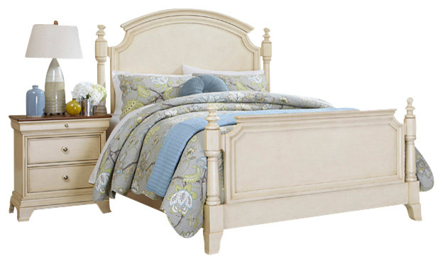 Homelegance Inglewood II 5Piece Poster Bedroom Set in Antique