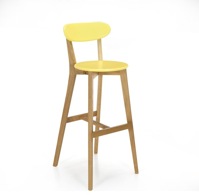 Siwa chaise de bar design scandinave coloris jaune - Table de cuisine avec tabouret ...