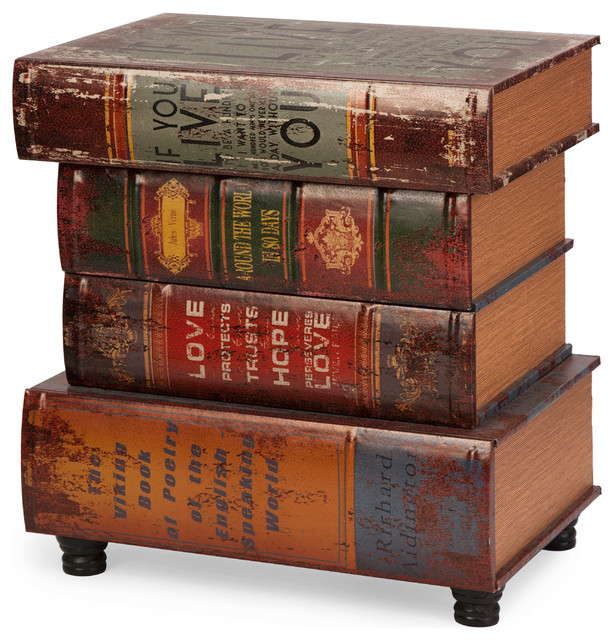 Brownlow Stacked Book Table Traditional Books By