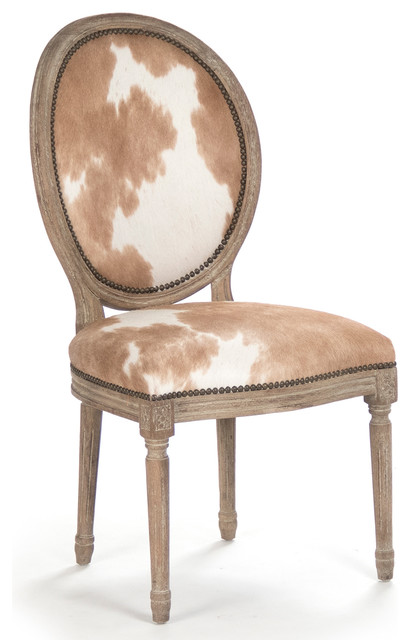 madeleine french country oval brown hair on hide dining chair. cowhide print  ... - Cow Print Chair. Linon Holcombe Stationary Bar Stool Cattle Print