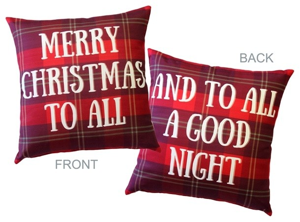 Pillow Decor - Merry Christmas Throw Pillow 19x19.