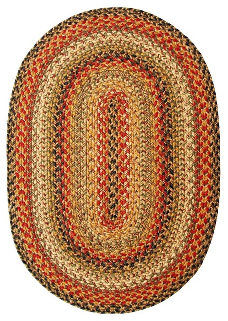 homespice decor kingston jute braided rug beige 18x26 - Homespice Decor
