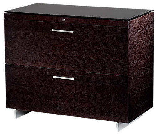 Sequel Lateral File Cabinet By Bdi, Espresso.