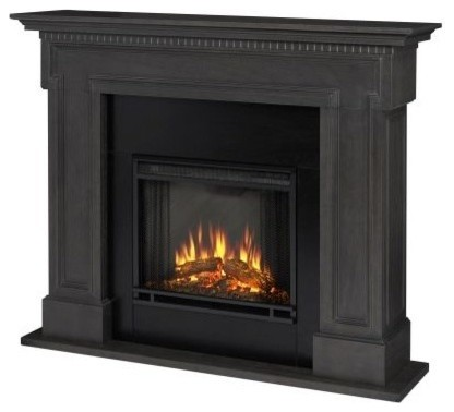 Real Flame Thayer Electric Fireplace, Gray.