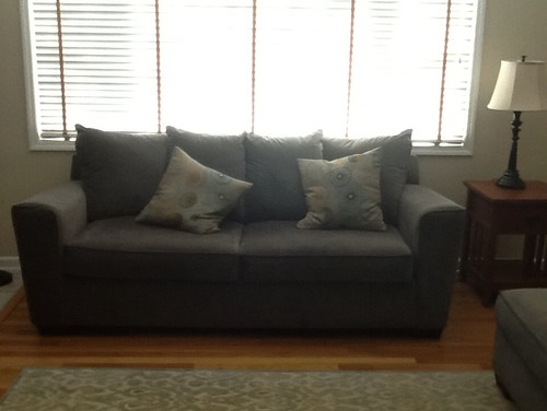 Windows Treatment Options For Bay Window Sofa In Front