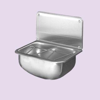 Cleaners bucket sink wall mounted stainless steel for Metal bucket sink
