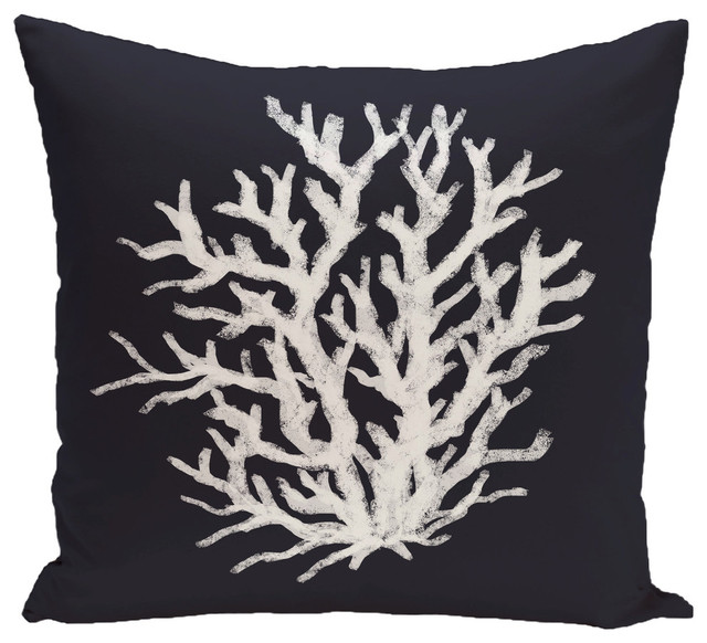 """Coral Reef Geometric Print Pillow, Bewitching, 16""""x16"""""""