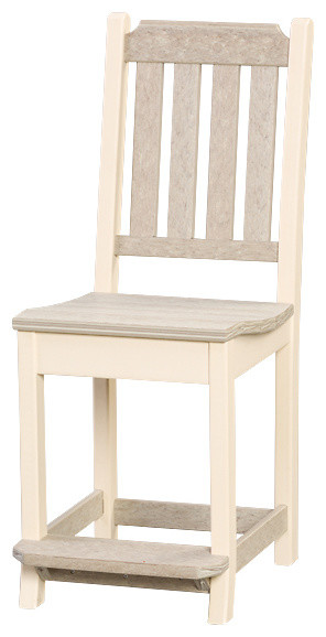 447bf1d79a7cee Outdoor Poly Lumber Keystone Counter/Balcony Chairs, Set of 2 ...