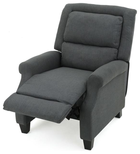 Outstanding Gdf Studio Monica Dark Gray Fabric Recliner Machost Co Dining Chair Design Ideas Machostcouk