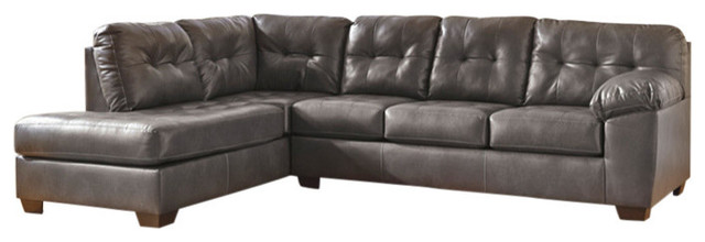 Signature Design By Ashley Alliston Sectional With Left Side Facing Chaise.