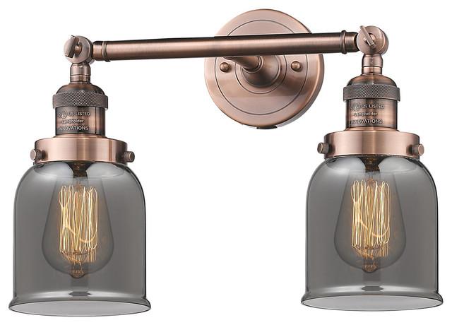 Antique Copper Innovations 208L-AC-G53-LED 2 Vertical Bath Vanity Light