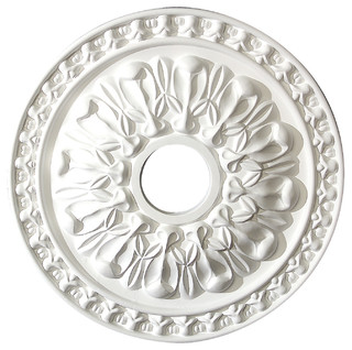 Decorative round ceiling medallion traditional ceiling medallions by american pro decor for Architectural medallions exterior