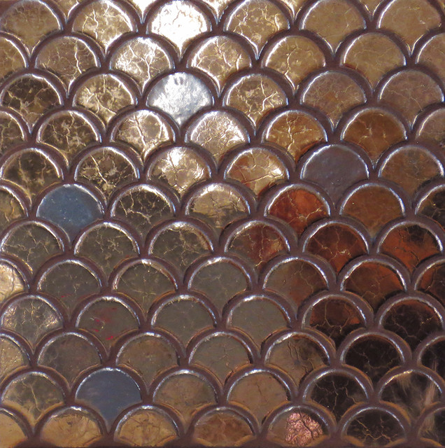 Mercury Mosaics And Tile Small Moroccan Fish Scales Tile
