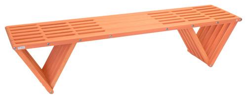 "GloDea Backless Wood Bench, 72"", Muted Mesa"