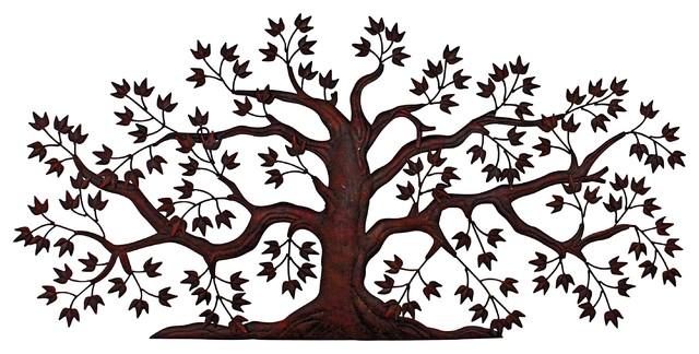 Exterior Wall Art tree wall art - traditional - outdoor wall art -dr. livinstone