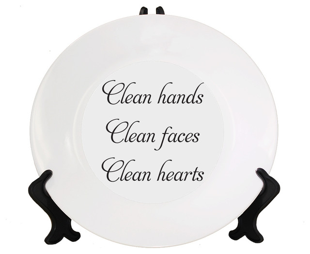 Clean Hands Face Heart Style # 1 Ceramic Plate With Stand contemporary- decorative-plates  sc 1 st  Houzz & Clean Hands Face Heart Style # 1 Ceramic Plate With Stand ...