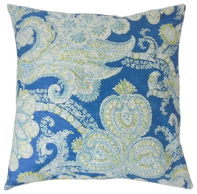 the pillow collection 18 square nikifor paisley throw pillow - The Pillow Collection