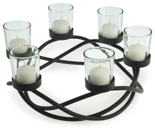 Round Waves Candleholder