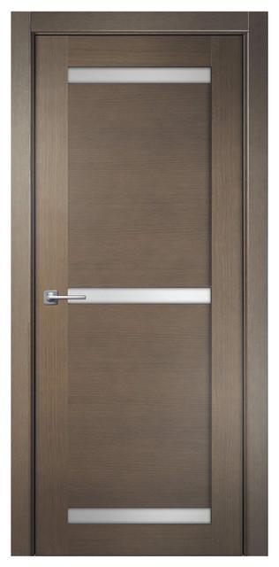 Sarto modum 4016 interior door cream oak satin glass for 18 inch interior glass door