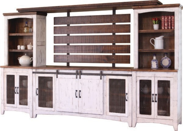 Anton Sliding Barn Door Entertainment Center Wall Unit Farmhouse
