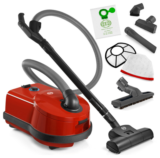 sebo d4 red airbelt canister vacuum cleaner with turbo. Black Bedroom Furniture Sets. Home Design Ideas