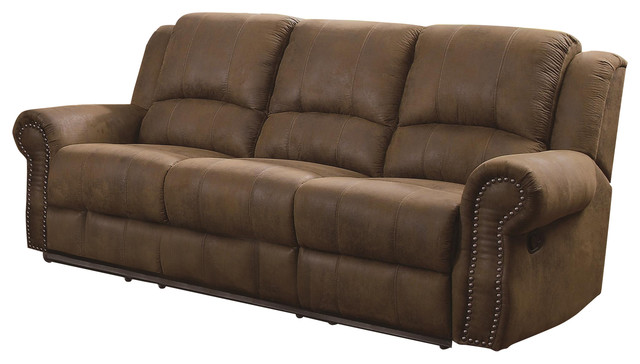 Awesome Coaster Sir Rawlinson Traditional Reclining Sofa With Nailhead Studs Home Interior And Landscaping Palasignezvosmurscom